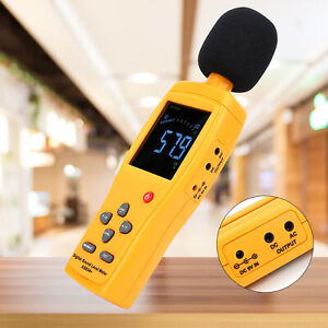 SMART SENSOR AS83/44+ Digital Sound Level Meter Data Storage Decibel Gauge