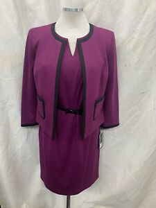 Nine West DRESS SUIT/SIZE 14/NEW WITH TAG/RETAIL$240/BERRY/LINED/