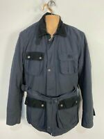 MENS PEPE JEANS LONDON SIZE MEDIUM NAVY 2IN1 CASUAL BELTED UTILITY COAT JACKET