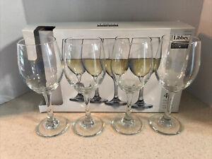 LIBBEY CHARISMA WHITE WINE GLASS GOBLETS  6 OZ / 414 ML   SET OF 4   NEW IN BOX