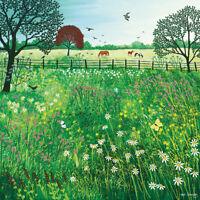 Jo Grundy - Summer Grazing -Canvas READY TO HANG 40 x 40cm
