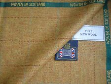 "100% PURE NEW WOOL COUNTRY CLASSIC TWEED AS ""WINDOWPANE"" JACKETING FABRIC= 1.9 m"