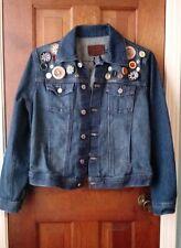 calvin klein denim customized jacket sz L