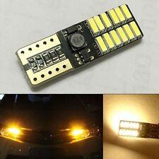 2x Bright Amber T10 168 194 24leds 5W No Error Car Canbus Small LED Light Blubs