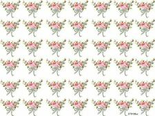 42 PinK TiNY RiBboNs & RoSeS ShaBby WaTerSLiDe DeCALs #2 *KNoBs*HanGeRs*