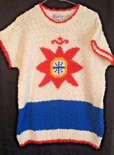 Vintage Fair Set Acrylic Knit Top Medium 80s