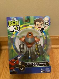 "2020 Ben 10 Omni Naut Armor Heatblast Action Figure 4"" 5"" Alien Space Armor"