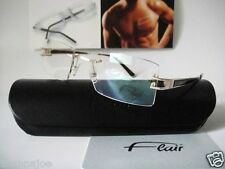 Flair Titanium 55-18 Germany mod.777 Gold/Brown Eyeglass Frame Glasses Rimless