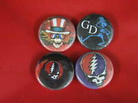 "GREATFUL DEAD  NEW  Four 1.25"" PINS BUTTONS BADGES PINBACKS"