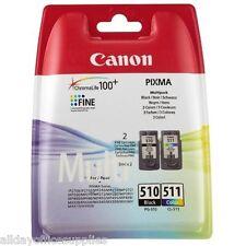 Original Canon PG510 Black & CL511 Colour Ink Cartridge For PIXMA UK VAT INC