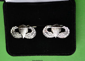 """PARATROOPER Cuff Links in Presentation Gift Box  Jump Wing (7/8"""")"""