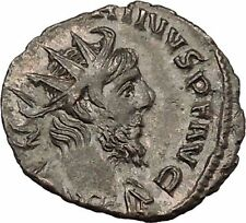 Victorinus  269AD Very rare Silvered Ancient Roman Coin forethought Cult i39015