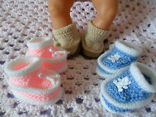 Knitting pattern - dk knitted dolls shoes/boots will fit Baby born, Annabell
