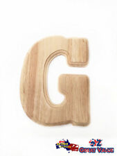 "Large Oak Wood Alphabet Letter ""G"" Natural Brown Uppercase Home Decor Art Craft"