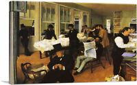ARTCANVAS A Cotton Office in New Orleans 1873 Canvas Art Print by Edgar Degas