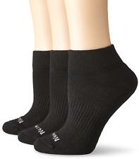 Womens Mesh Ankle Socks, Cushioned (3-Pack) Black One Size, 4-10