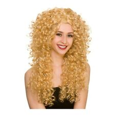 Long Curly Bushy Giant Wig Curls Perm 80's 90's Womens Fancy Dress Costume
