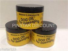 3 X  100G MASONS DOG OIL FOR MASSAGING ODOURLESS LONG EXPIRY DATES