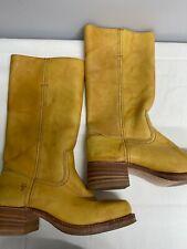 Frye Unisex Botas De Vaquero EE. UU. Talla 9 (UK 8/8.5) pre propiedad de cuero marrón claro