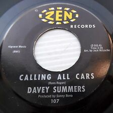 DAVEY SUMMERS Calling all cars Good ship love 1963 Teen Bopper 45 e6965