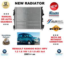 FOR RENAULT KANGOO KC0/1 MPV 1.2 1.6 16V 1.5 1.9 dCi 4x4 2001->on NEW RADIATOR