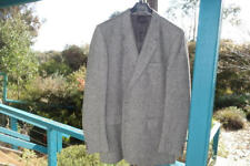 Aquascutum UK NEW Mens Thornproof Tweed Mid weight GREY Sportscoat Size XL 22.5""