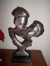 Vintage The KISS bronze finished sculpture on base. RETRO  Estate find