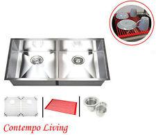 "New listing 37"" Stainless steel Undermount Zero Radius Kitchen sink"