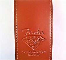 "FENDER MID BROWN PU LEATHER GUITAR STRAP 2.5""(6.5 cm) WIDE"