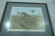 John Moisan Wildlife Art GRANDPA'S EMPTIES Signed & Matted Pheasant Print
