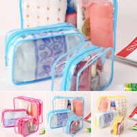 Plastic PVC Travel Pouch Zipper Clear Transparent Cosmetic Make Up Toiletry Bag