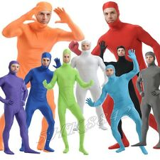 Men Women Kids Open Face Full Body Spandex Suit Zentai Bodysuit Party Costume