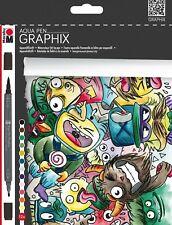 NEU Marabu Aqua Pen Graphix 12er Set MEGA MASH
