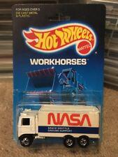 1986 Vintage HOT WHEELS 5144 Workhorses NASA Space Shuttle HIWAY HAULER TRUCK