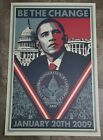 Shepard Fairey OBEY -Barack Obama - BE THE CHANGE -Numbered Edition Offset Print
