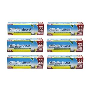 Pack of 6 Gillette guard lather shaving cream with neem extract 125g 4.4oz tube