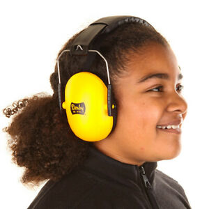 Childrens Kids Toddlers Infant Babies Baby Ear Defenders Ear Muffs Yellow Orange