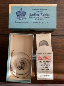Hamilton 16 Size Mainspring Nuvigor For Howard T End 329 Pocket Watches NOS -2
