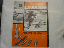 Lyman Reloading Ammunition 1959 catalog sights chokes scopes