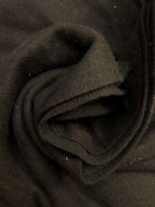 "2 yards x 60"" Black WOOL Fabric Length - Heavy Weight - Cloak Cape"