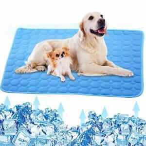 Dog Cooling Mat Puppy Summer Self Cool Pet Non-Toxic Heat Relief Gel Mat M - XXL