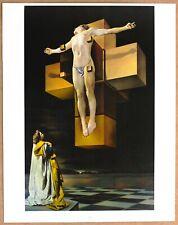 Salvador Dali The Crucifixion Original 1960 1st Print Ltd Ed Litho