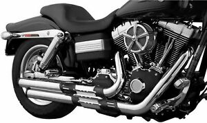 Kuryakyn - 518 - Crusher Power Cell Staggered Dual Exhaust System Black / Chrome