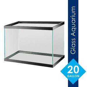 """20 Gallon Fish Tank Aquarium, 24.25""""L x 12.5""""W x 16.75""""H, Great for Beginners"""