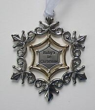 ccd Wish upon a Snowflake Christmas ORNAMENT swirling 3d Ganz car charm opens
