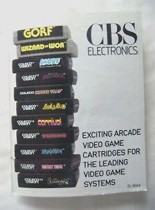 59382 Instruction Insert - CBS Electronics Catalogue - Atari 2600 / 7800 (1981)