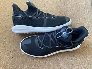 Under Armour Curry 6 SL Golf Shoes Graphite Black White Men's Size 9 3022578-001