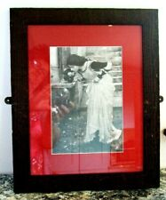 """Print of John William Waterhouse's painting """" The Shrine"""" in black and white."""