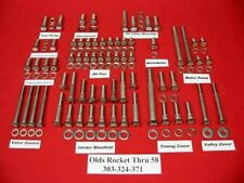 OLDSMOBILE OLDS 1958 & OLDER ROCKET 303 324 371 STAINLESS STEEL ENGINE BOLT KIT