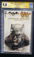 Batman CGC SS 9.8 Johnny Desjardins Sketch Dark Knight Blank 🦇